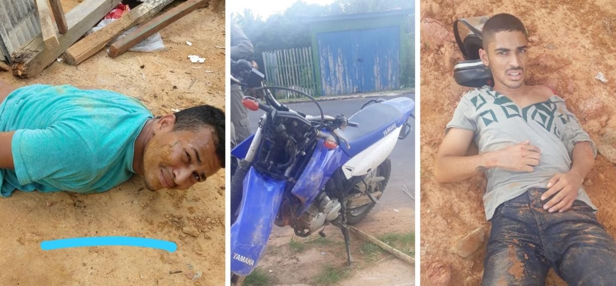 PM recupera moto roubada e prende dois homens em Cruzeiro do Sul - Jurua em Tempo