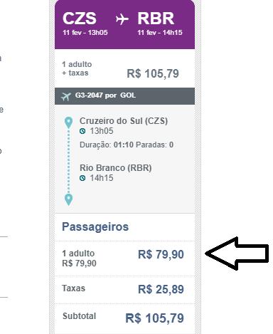 Voos de ida e volta de Rio Branco para Cruzeiro do Sul por apenas R$ 261; veja outras ofertas - Jurua em Tempo