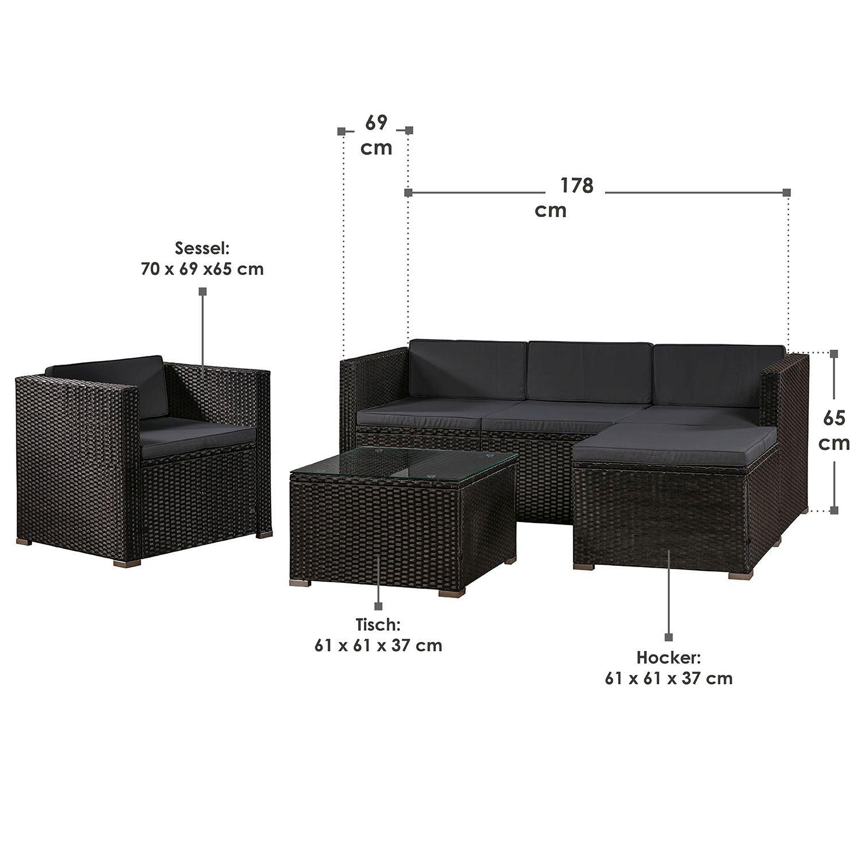 Polyrattan Gartenmbel Lounge Rattan Gartenset Sitzgruppe