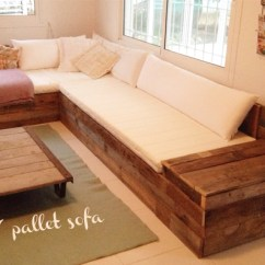 Diy Sofa From Pallets Metro With Chaise Room And Board Furniture Van