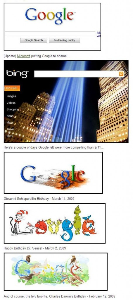 google blows off 9 11