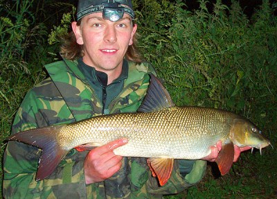 Andrew Kennedy with a 9lb 4oz River Trent Barbel