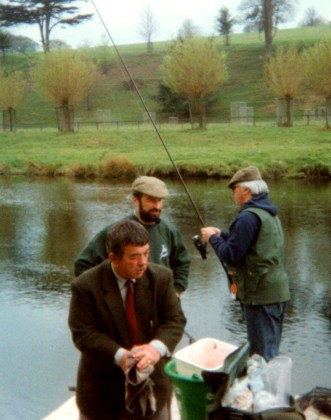A typical scene at the Chatsworth Angling Fair demonstration platform