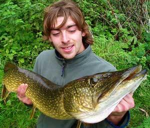 Matt with a 15lb river Pike