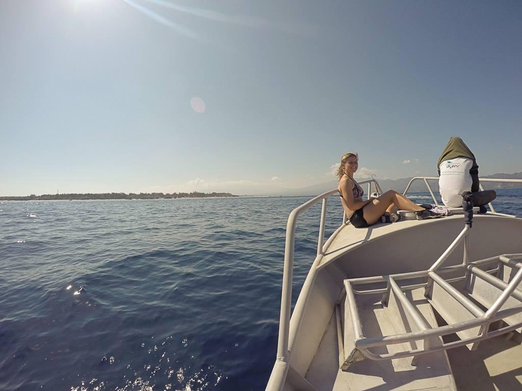 Gili Trawangan: Los geht's zum ersten Tauchgang vor den Gili Islands.