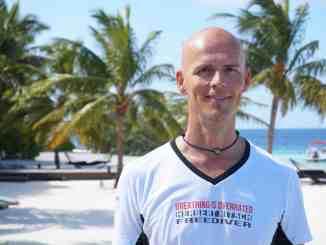 Ich habe Apnoetauchen-Weltrekordhalter Herbert Nitsch auf den Malediven getroffen. Foto: Sascha Tegtmeyer
