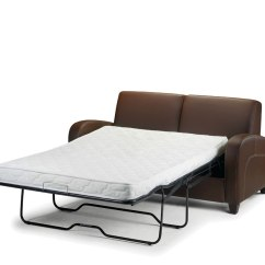 Sofa Pull Out Bed Frame Stickley Construction Vivo 4ft Brown Faux Leather Just Beds Product Save 15