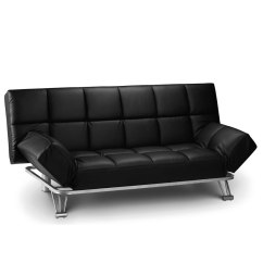 Faux Leather Sofa Bed Uk 4 Piece Sectional Canada Manhattan Black Clic Clac Just 4ft Beds Product