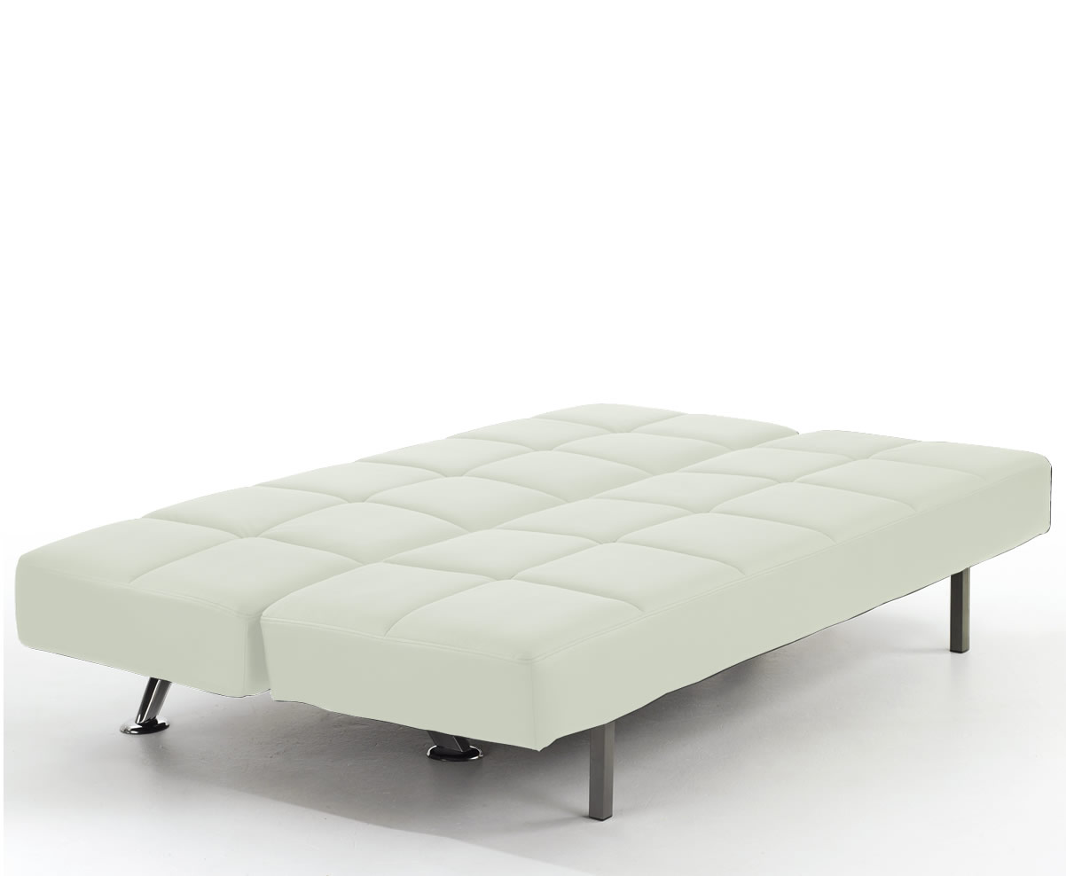 4 foot wide sofa bed kaufen per rechnung venice 4ft orchid white faux leather just beds