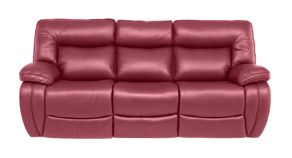 modena 2 seater reclining leather sofa lazy boy cleaning 3 manual double recliner