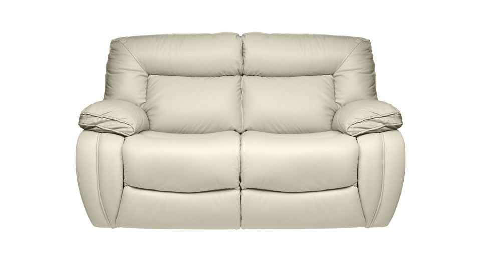 modena 2 seater reclining leather sofa bedroom settee manual double recliner
