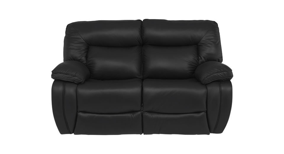 modena 2 seater reclining leather sofa sears sleeper electric double recliner
