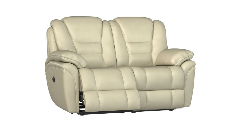 electric recliner leather sofas uk cody fabric 6 piece chaise sectional sofa with 1 power superior 2 seater double