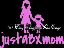 justabxmom 30 day blogging challenge