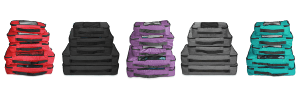 packing cubes, 5 piece travel set