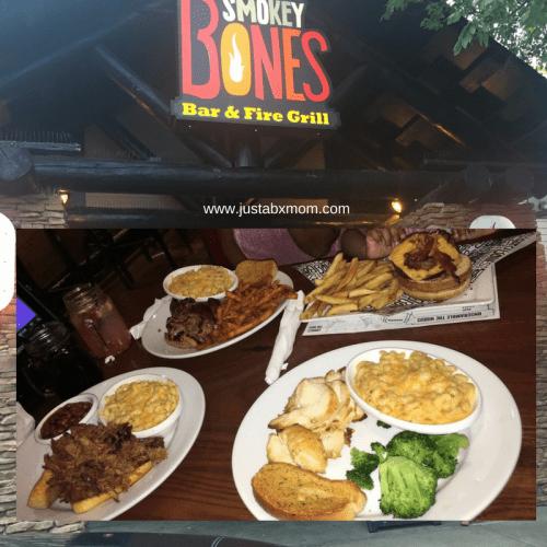 yummy food, smokey bones