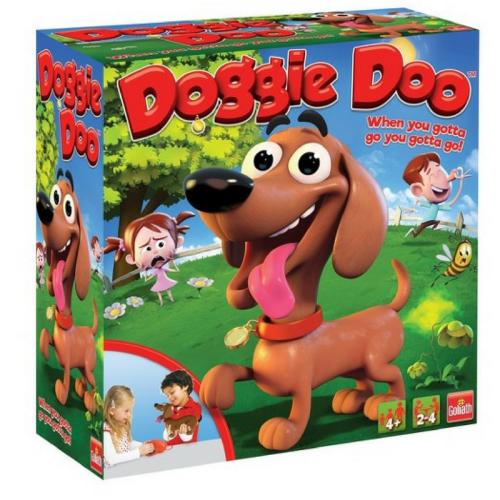 goliath games, pressman toys, doggy doo, doggie doo