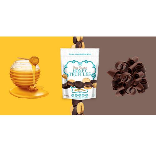 lovely candy company, honey truffle, dark chocolate, honey