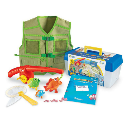learning resources, preten and play, fishing set
