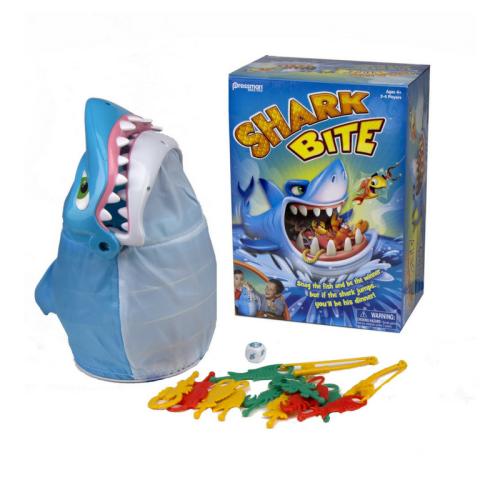 shark bite, pressman toys, goliath games