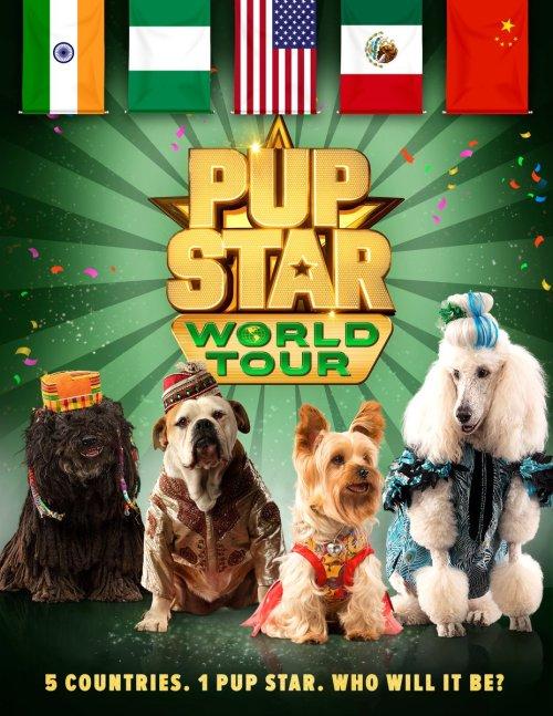 pup star world tour, air bud, tiny, netflix