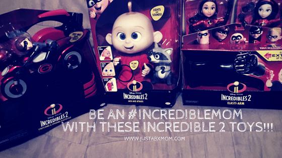 incredibles, incredibles 2, #incrediblemom, jakks pacific, jakks toys, jack-jack, elastigirl, violet