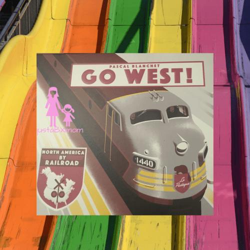 go west, trains, railroad, books