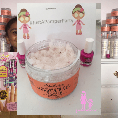 shea moisture, piggy paint, #justapamperparty