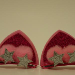 hair clips for girls, cat ear hair clips