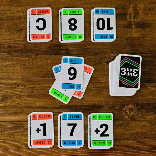 card games, math games, homeschooling games, 3up 3down