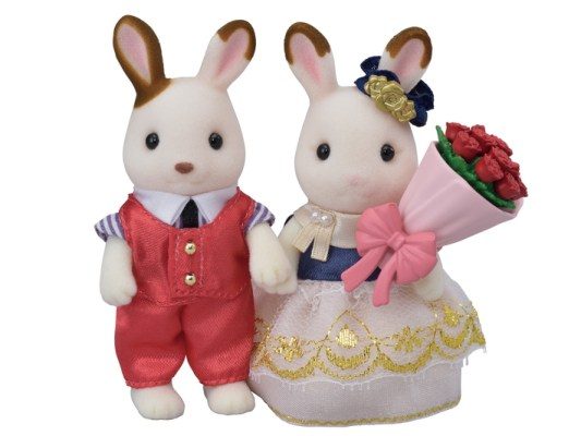 calico critters, stella and cinnamon rabbit