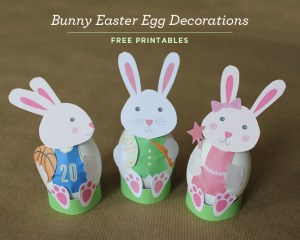 Kid-Friendly Bunny Easter Egg Decorations with Free Printables