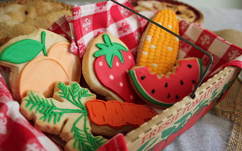 Farmers Market Party Cookies