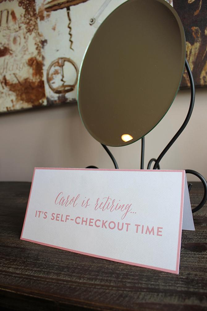 Self Checkout mirror, mirror, joke, Vintage Book Party, Retirement Party, Vintage School, Vintage Book