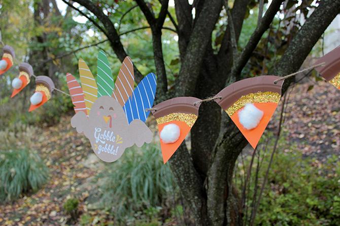 Thanksgiving pie banner, pie banner, kids craft, thanksgiving decor, easy thanksgiving decor, pie bunting, free printable, just add confetti