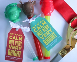 """Not At All Calm, but Very, Very Bright"" Light-Up Christmas Wand Gift Idea"