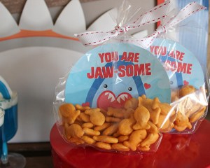 """You are Jaw-some"" Shark Valentine with Free Printable"
