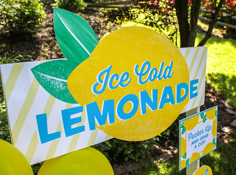 Lemonade Stand, Lemonade Stand for a Cause, Just Add Confetti, free printable, Lemonhead cookie recipe, recipe, cookie recipe, Just Add Confetti printables, lemon balloons, free printable signs, pucker up and grab a cup, you're my main squeeze, lemonade, The Birthday Party Project, summer fun, summertime lemonade stand, summer lemonade stand, lemon cookies, amazing Lemonhead cookies, Lemonhead cookies
