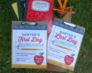 First and Last Day of School Free Printable Signs