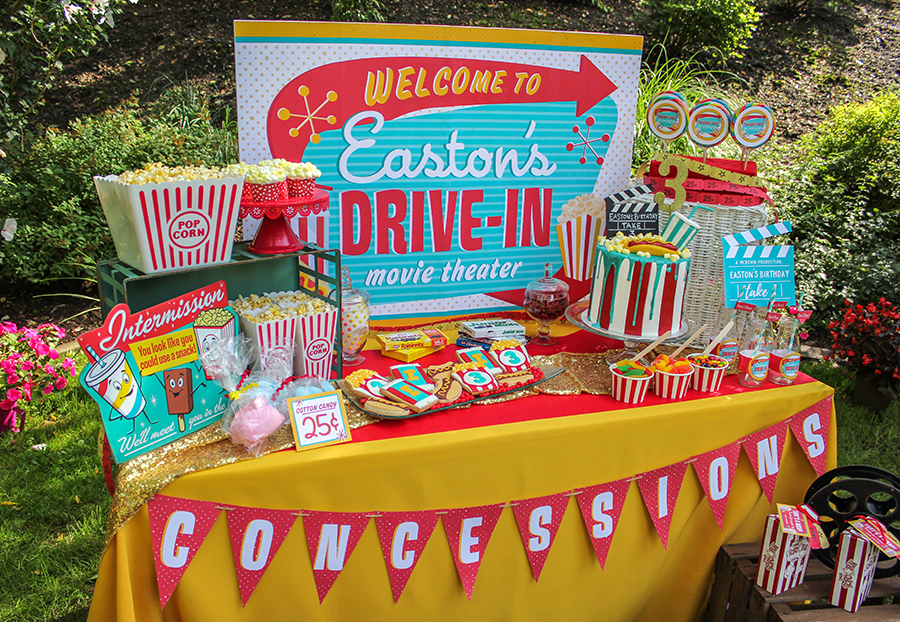 Easton S Retro Drive In Movie Party Just Add Confetti