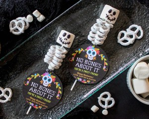 No Bones About It—You're a Sweet Friend: Marshmallow and Pretzel Skeletons