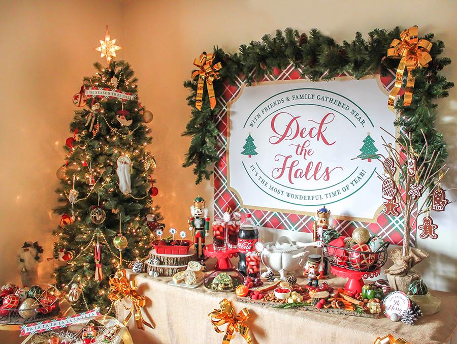 Deck the Halls Tree Trimming Holiday Party, Christmas Party, Cranberry Vanilla Coke-tail, Coca-Cola, Just Add Confetti, Free Printables, Brand Partnership, charcuterie board, gorgonzola loaf, sun-dried tomatoes, pesto, gorgonzola cheese, charcuterie, kielbassa, recipes, DIY ornaments, apple cinnamon ornaments, Christmas tree, Christmas ornaments, Christmas, Party blogger, Pittsburgh blogger,