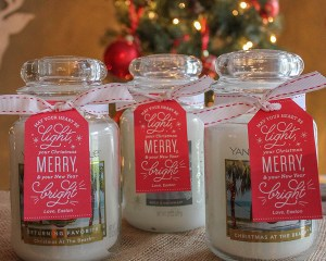 Merry and Bright Candle Gift