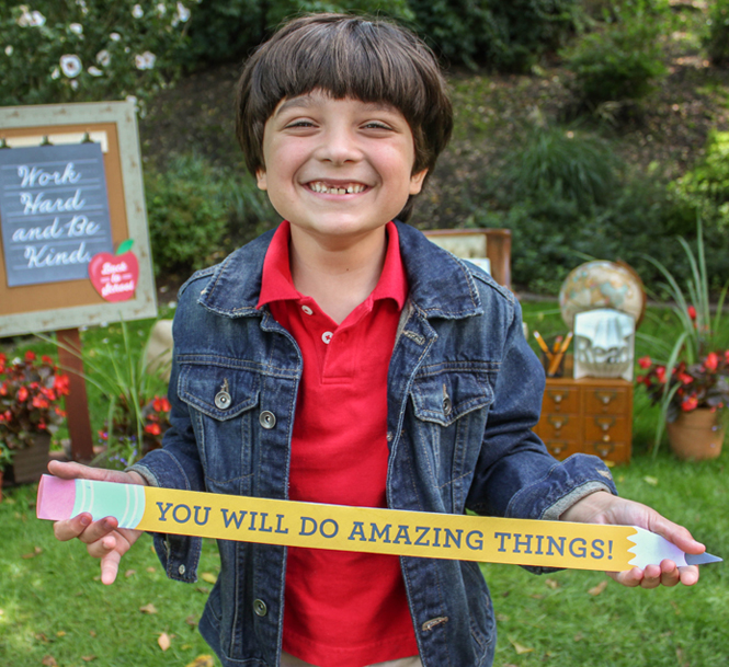 you will do amazing things, pencil sign, pencil poster, back to school party, back to school