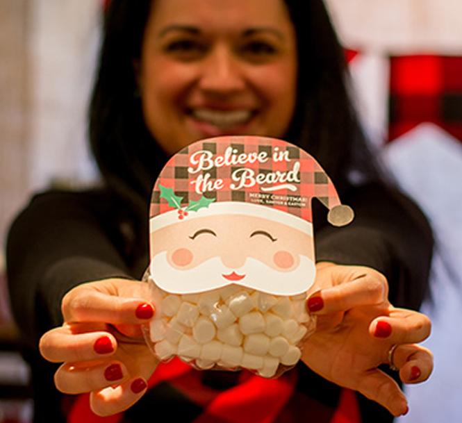 """""""Believe in the Beard"""" Treat Idea, marshmallow treat, santa, christmas,"""