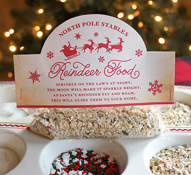 Reindeer Food Recipe and Printable Bag Topper, reindeer food, christmas, free printable, christmas bag topper