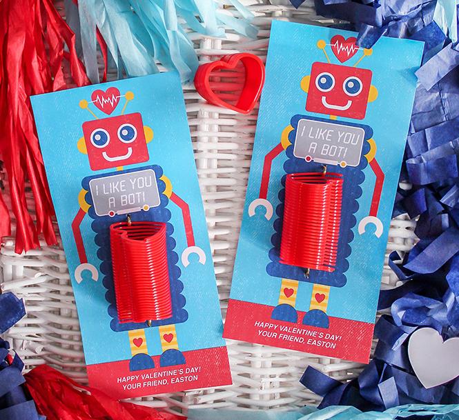 robot, robot valentine, I like you a bot, kids valentine, classroom valentine, school valentine