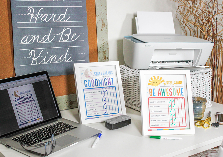 3 free back-to-school printables to start the year off smoothly with HP DeskJet 2636, HP DeskJet 2636, HP, Hewlett-Packard, brand partnership, Just Add Confetti, free printables, back-to-school, back to school, back to school printables, printer, routine charts, lunchbox notes, teacher gift, back to the grind, coffee teacher gift, coffee gift, rise shine and be awesome, back-to-school printables, back-to-school free printables, welcome back to the grind, back to school ideas, back to school gift ideas, back to school routine charts, back to school organization ideas,
