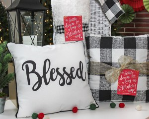 Throw Pillow and Blanket Christmas Gift Idea