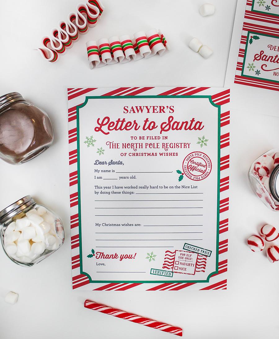Letters to Santa and Hot Cocoa gift idea, Christmas wishin' and hot cocoa sippin', hot cocoa gift idea, letters to santa gift idea, free printables, Christmas, diy gift idea, gift ideas, Christmas gift ideas, Just Add Confetti, santa,
